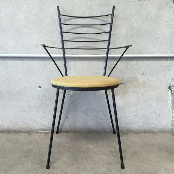 Mid Century Iron Side Chair