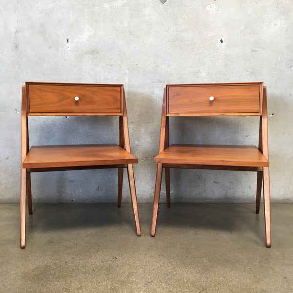 Pair of Mid Century Kipp Stewart for Drexel Declaration Nightstands