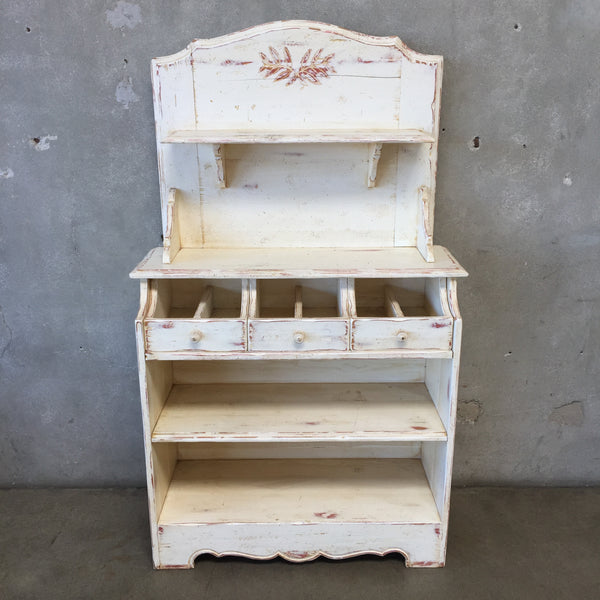 Rustic Wooden Off White Sideboard