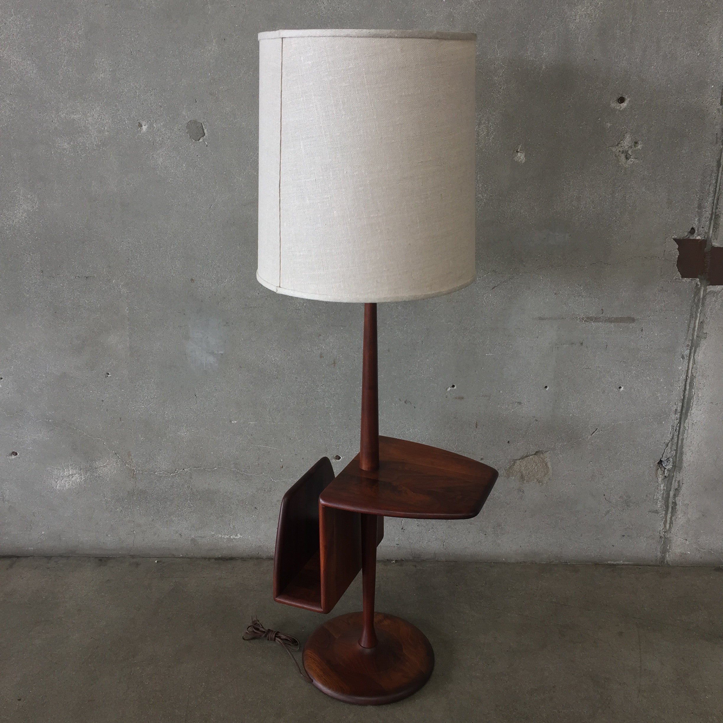 ... Mid Century Modern Laurel Floor Lamp With Table And Magazine Holder ...