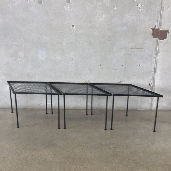 Three Piece Black Modular Tables