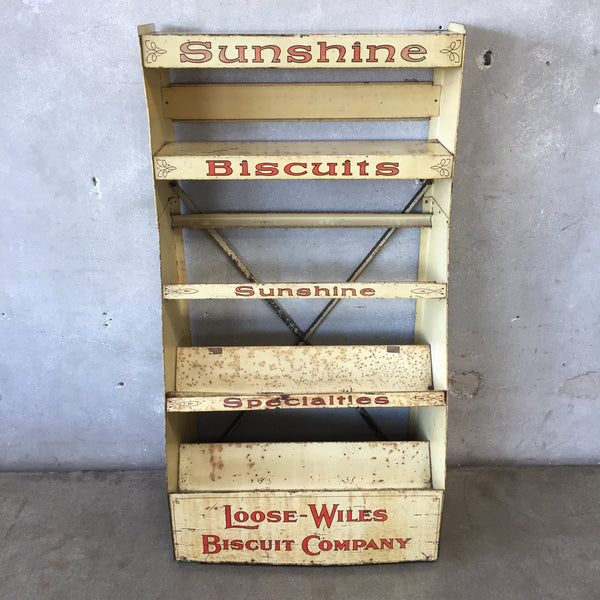 Vintage Sunshine Biscuits Display Rack