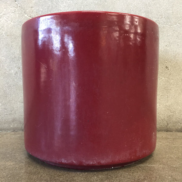Mid Century Burgundy Pot