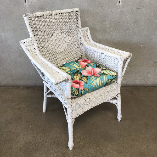Large Vintage Wicker Chair