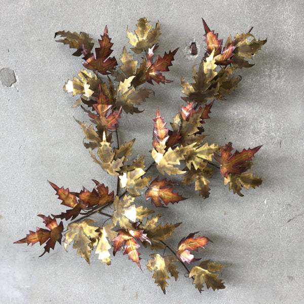 Metal Maple Leaf Sculpture bu Curtis Jere