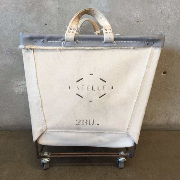 Small Canvas Laundry Rolling Cart