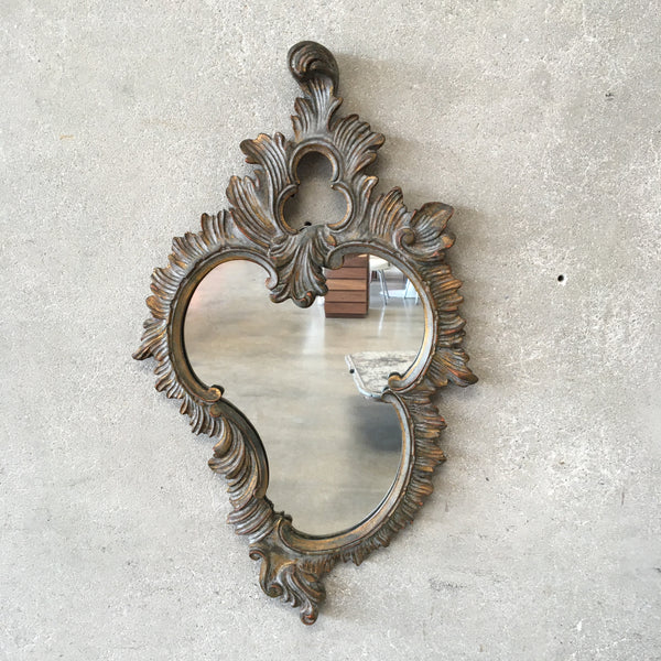 Vintage Pallado Italian Mirror With Rocaille Scroll