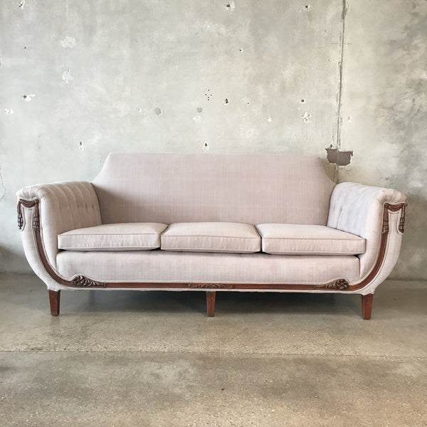 Art Deco Sofa with New Upholstery