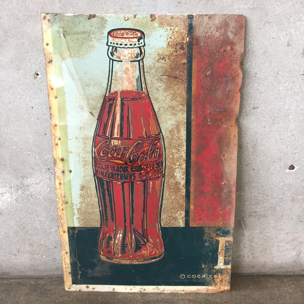 1930's Tin Litho Coca Cola Sign