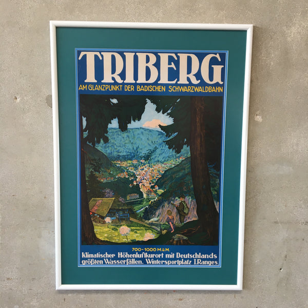 1930's Triberg Germany Travel Poster