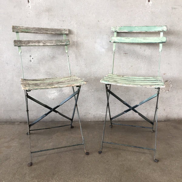 Pair of Vintage French Bistro Chairs
