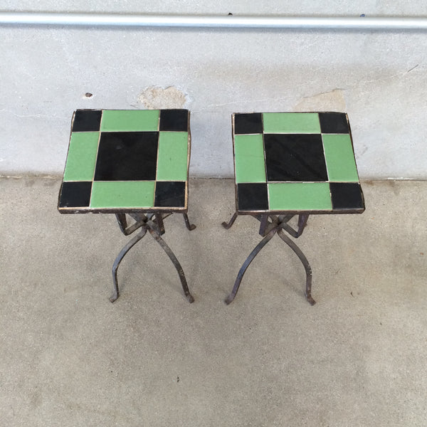 Pair of Tile Tables