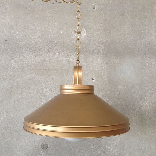 1970's Gold Hanging Lamp