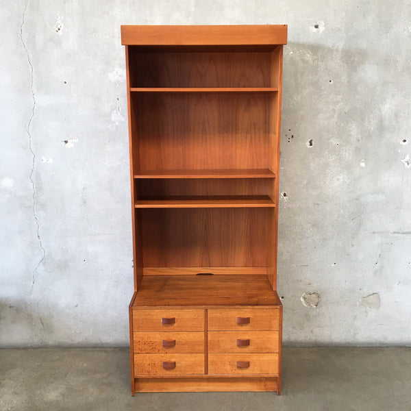 Six Drawer Danish Lighted Wall Unit by Domino Mobler