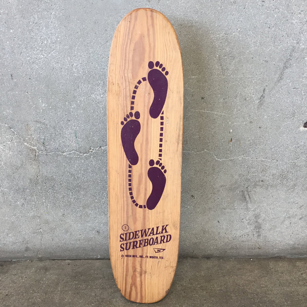 Vintage Purple 15 Toes Sidewalk Surfboard Skateboard