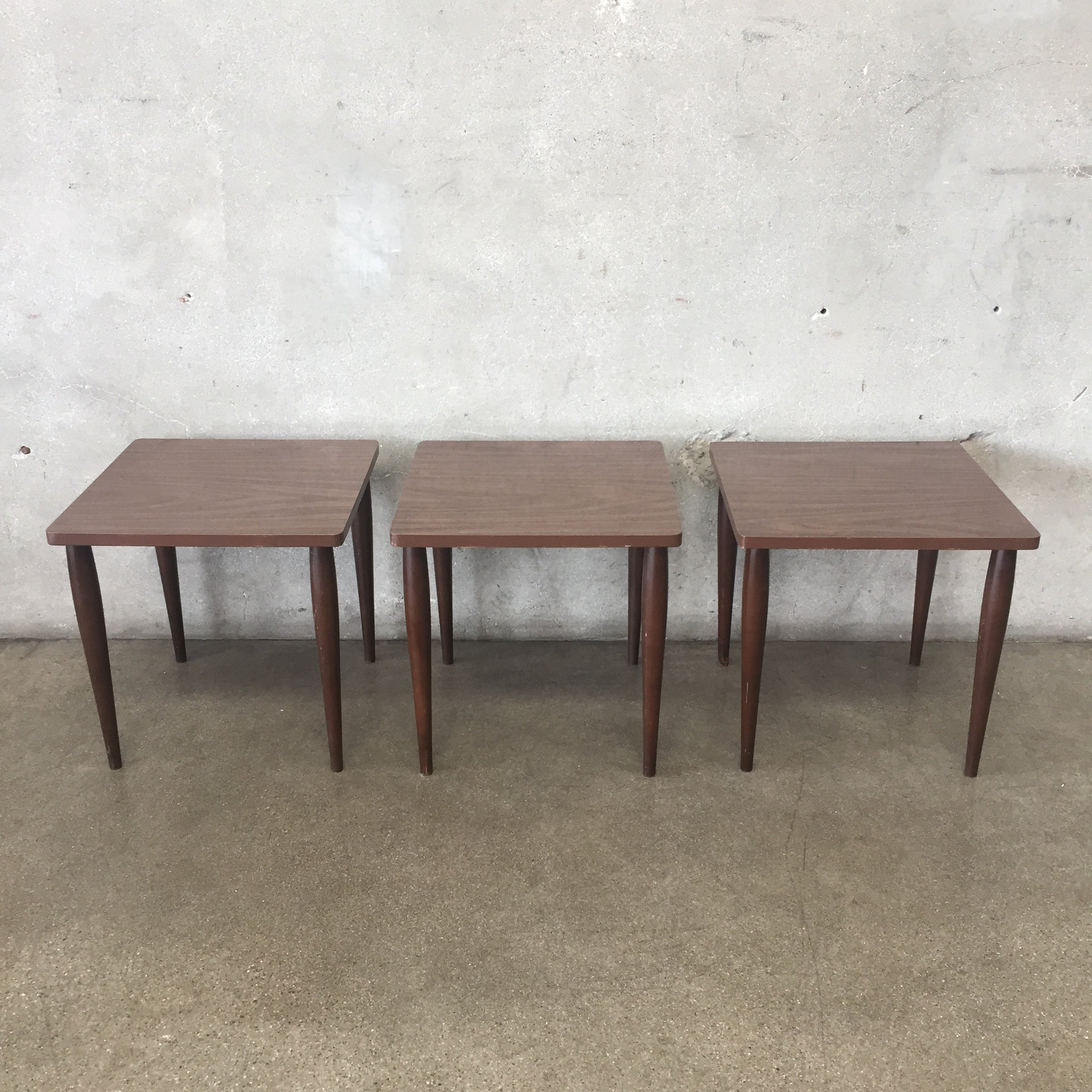 Set Of Three Vintage Mid Century Stacking Tables ...