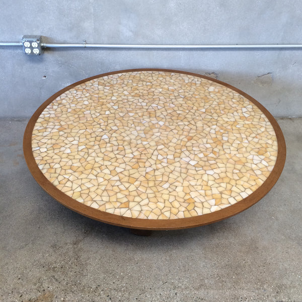 Mid Century Tiled Mosaic Coffee Table
