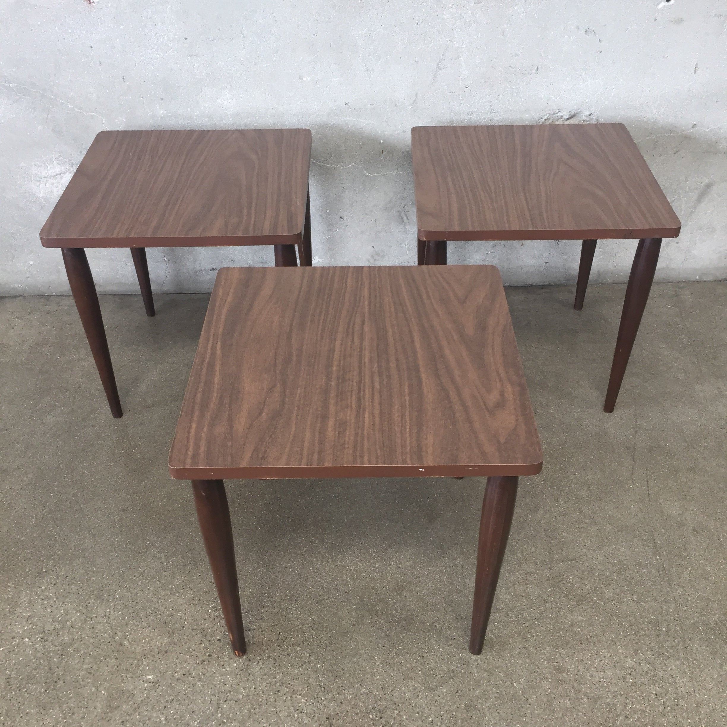 ... Set Of Three Vintage Mid Century Stacking Tables ...
