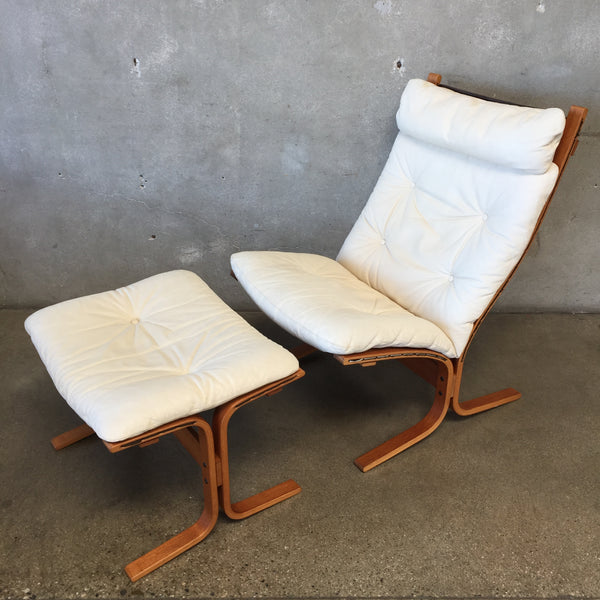 Vintage Mid Century Lounge Chair & Ottoman for Westnofa