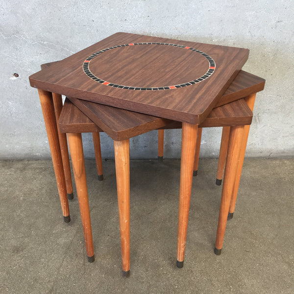 Mid Century Stacking Side Tables