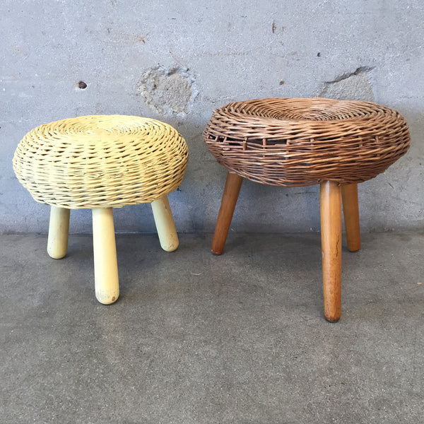 Pair of Tony Paul Style Rattan Chairs
