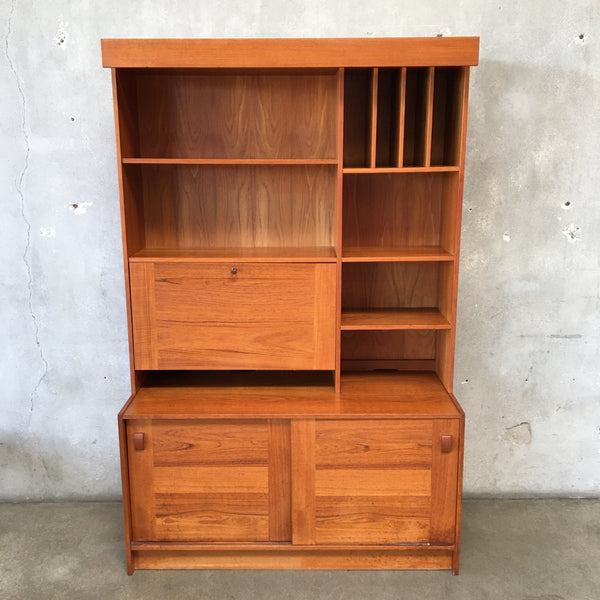 Large Danish Wall Unit With Built In Desk by Domino Mobler
