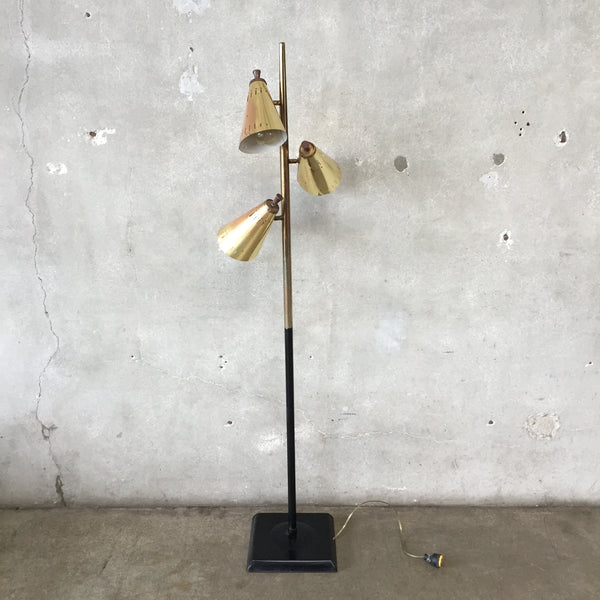Atomic Gold & Black Floor Lamp