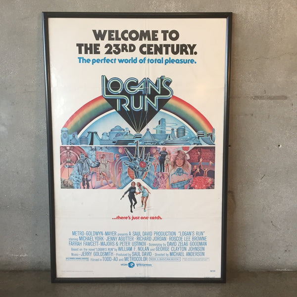 1975 Logans Run Original Movie Poster