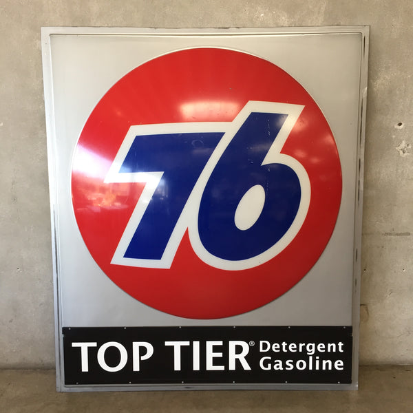 76 Gasoline Plexiglass Sign