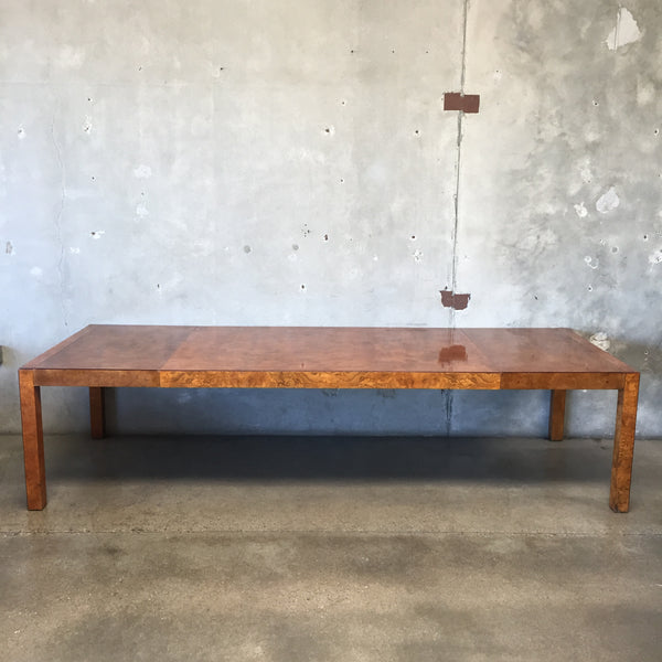 Vintage Mid Century Burlwood Dining Table