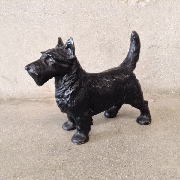 Wrought Iron Scottie Dog Door Stop