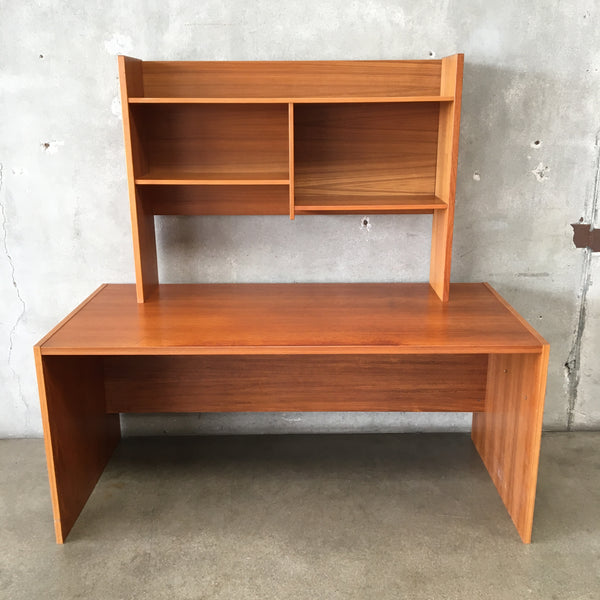 Teak Danish Desk with Top Shelf