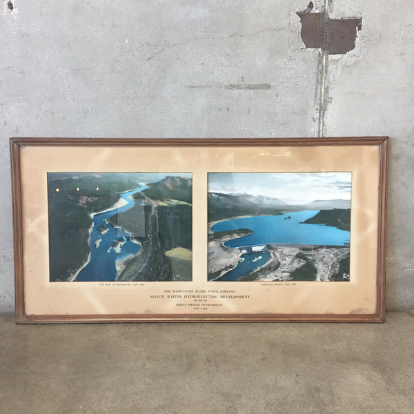Framed Nixon Rapids Hydroelectric Development Print