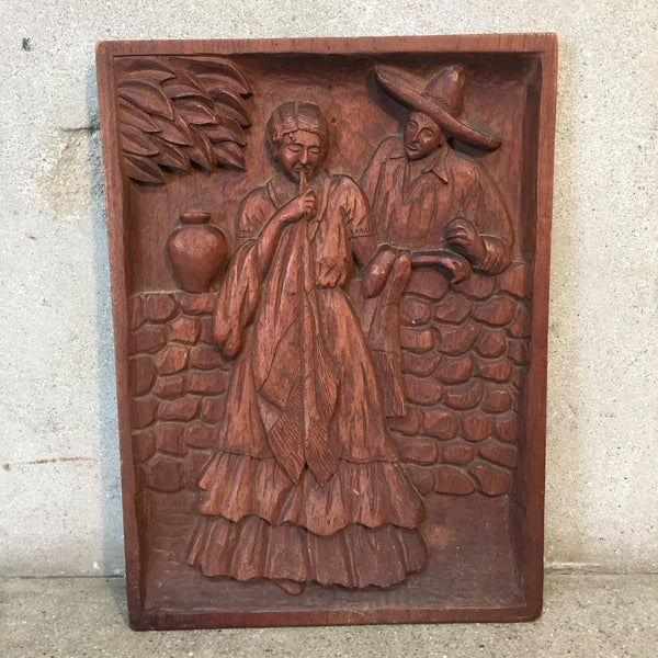 Mexican Bas Relief Carving by J. Rosas