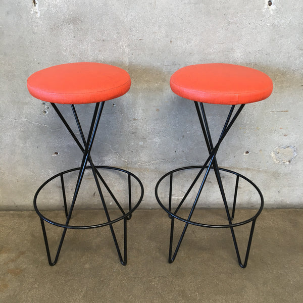 Pair of 1950's Paul Tuttle Barstools for Modern Color Inc.