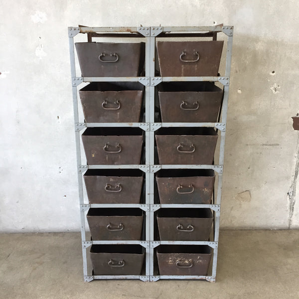 Turn of the Century Industrial Metal Parts Bin
