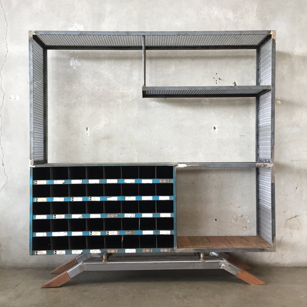 Custom Made Industrial Shelving Unit
