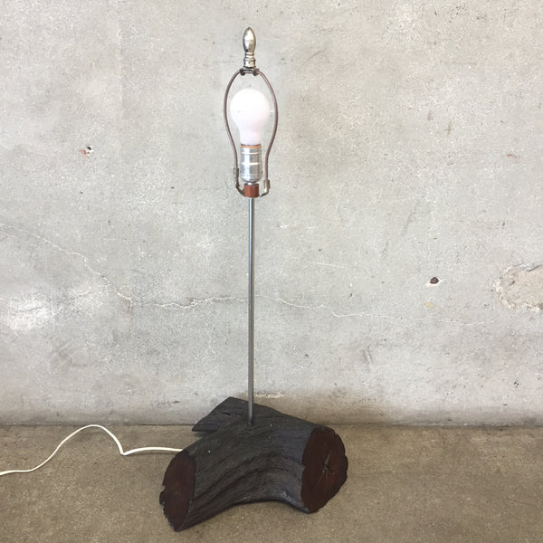 Vintage Wood Base Lamp