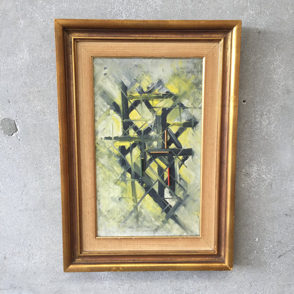 Mid Century Modern Original Oil Abstract Painting