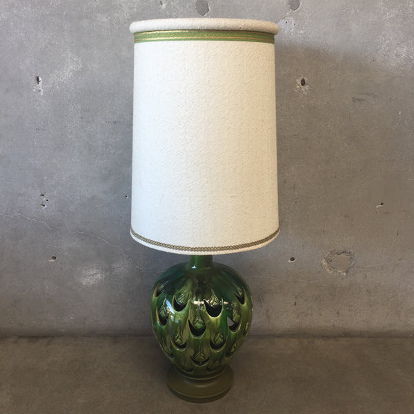 Mid Century Green Table Lamp