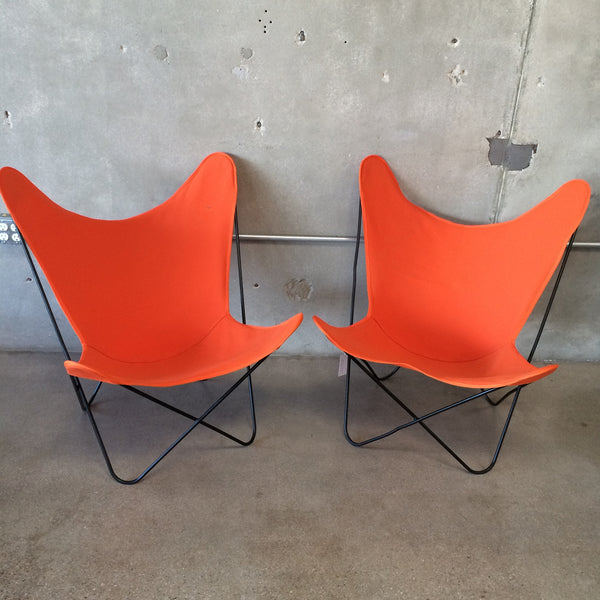 Pair of Vintage Iron Butterfly Chairs