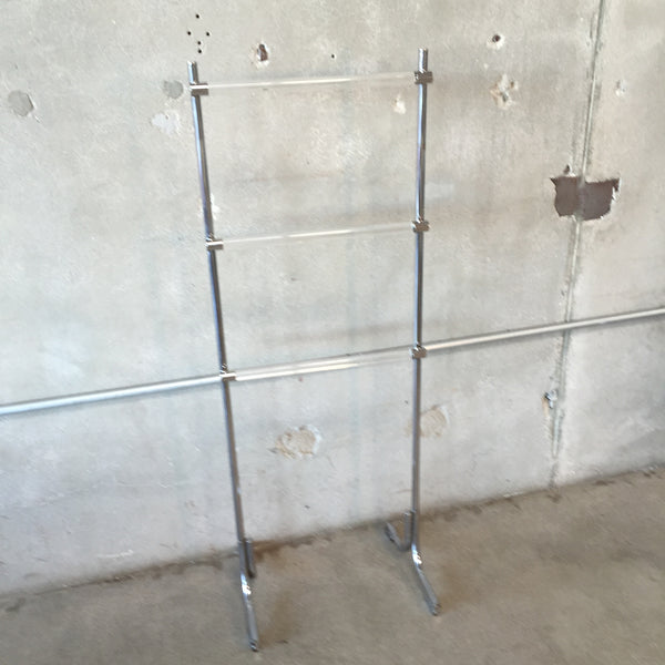 Chrome and Lucite Towel Rack   (1324)