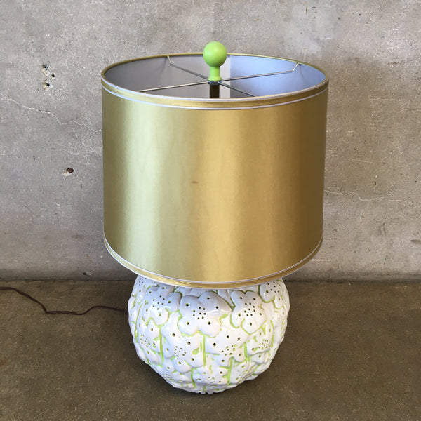 Mid Century Modern Flower Lamp Table With New Shade
