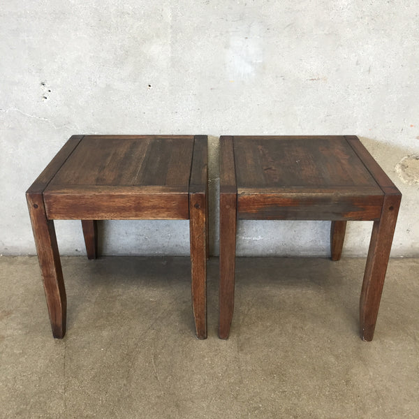 Pair of Vintage Wood Side Tables