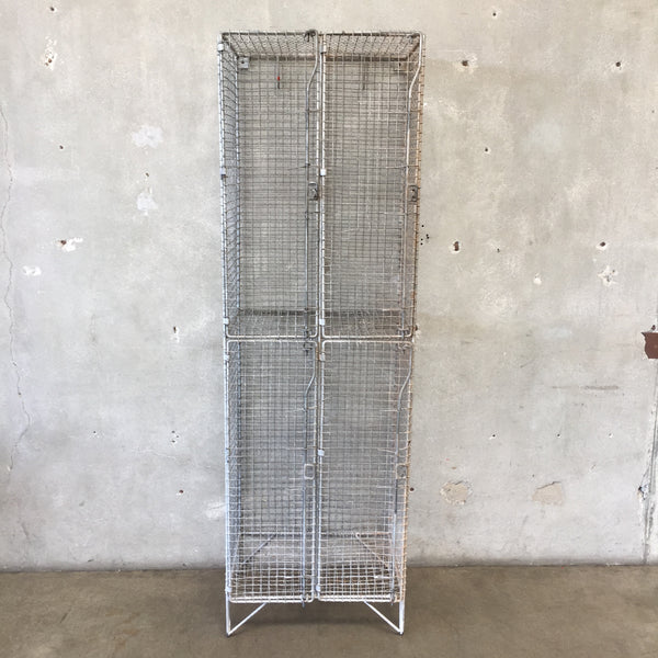 English Industrial Mesh Lockers