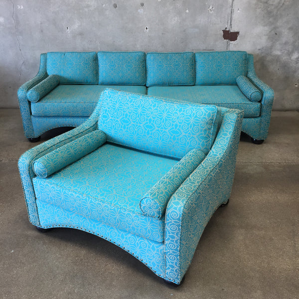 Rare Custom Moroccan Style Sofa and Chair