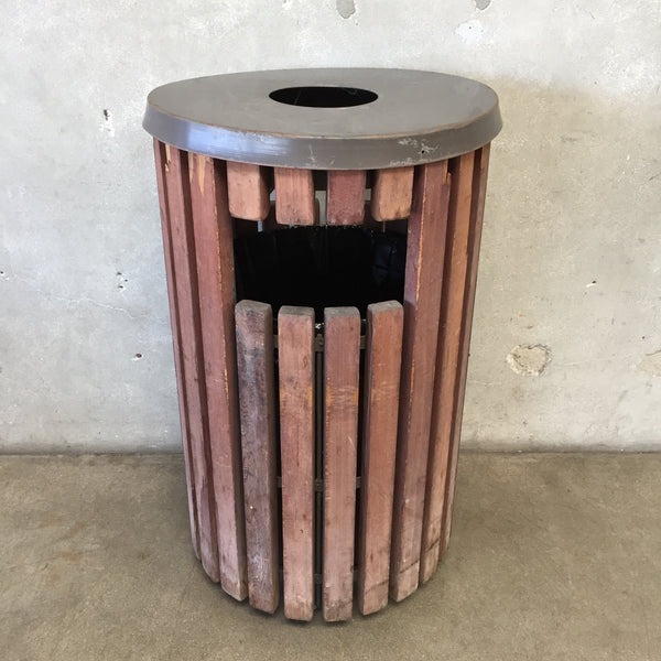 Redwood Backyard Trash Can