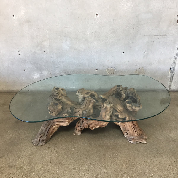Mid Century Driftwood Coffee Table