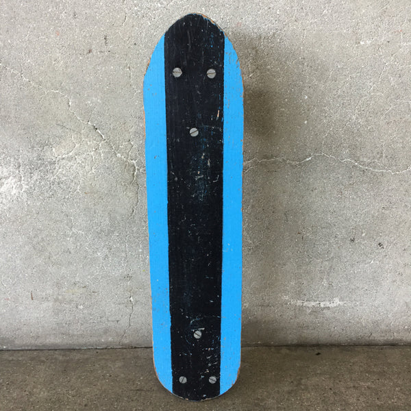 Vintage Blue and Black Skateboard by Surf Skater