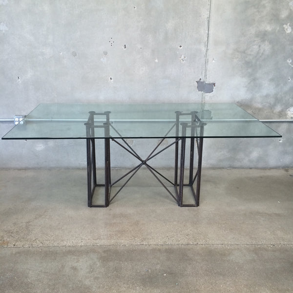 Industrial Base Dining Room Table